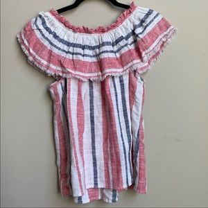 JustFab striped cotton top size M